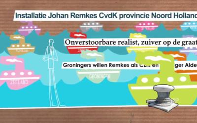 Animatie bij het afscheid van Johan Remkes